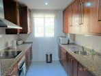 Fully fitted kitchen with all appliances.