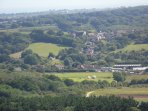 View of Newchurch from the downs.