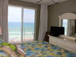 Master Bedroom w/ Gulf Views and Flat Screen TV