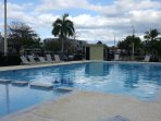 Fully renovated pool facilities include children's pool and jetted jacuzzi.