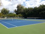 Recently renovated tennis courts.