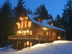 Will View Ski Chalet at Night