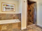Rain Shower and Jetted Tub