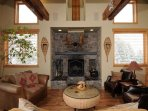 Wood fireplace for those chilly nights.