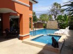 Great Private Pool with Separate Children's Pool South Facing Sun All Day Ample Sun Loungers