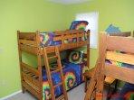 1st Floor West Streetside Bedroom w/ 2 Bunk Beds