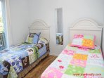 1st Floor Back Bedroom w/ 2 Twin Beds