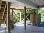Carport with Enclosed Outside Shower