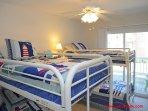 1st Floor Middle Bedroom w/ 2 Sets of Bunks