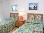 1st Floor South Oceanfront Bedroom w/ 2 Twins