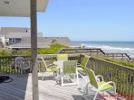 Oceanfront Covered Porch w/ Sun Deck