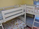 1st Floor Streetside Bedroom w/ 2 Bunk Beds