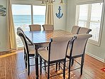 Dining area with expansive ocean view