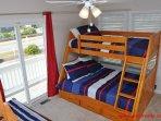 1st Floor Streetside Bedroom w/ 2 Twin/Dbl Bunks