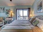 Master bedroom has balcony access