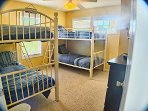 Bedroom 5 with 2 sets of bunks