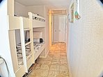 Built-in bunks in hallway