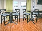 Additional seating for meals at bistro tables