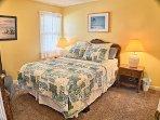 Bedroom has queen bed