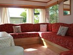 Ample seating in the spacious lounge with Sofa Bed for 2.