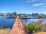 Stroll down the dock and hop onto your Boat, Throw out a Fishing Line, or Drop Down a Crab Trap  for some Blue Crab or...