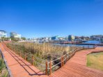 Enjoy a nice walk along the boardwalk throughout the Community and Marina at Carolina Bay