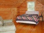 Loft Bedroom w/Queen Bed & Single Sleeper Sofa
