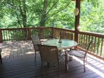 Covered side deck w/gas grill & patio set