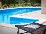 Pool holiday villa for rent in Bilice, Sibenik area, Croatia
