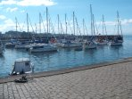 Musselburgh Marina within walking distance of apartment.