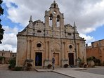 The very old Arkadi monastery. The church.