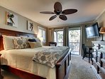Relax in the comfortable master bedroom