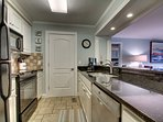 Full kitchen with all of your cooking needs