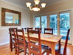 Dining Area With Access to One of The Many Porches