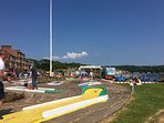 Crazy Golf, swings and trampolines in Millport