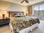 Guest bedroom king-size bed can be split into two XL twins at no charge