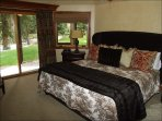 Master Bedroom with King Bed, Fireplace and Jacuzzi Tub