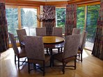 Spacious Dining Area with Seating for 8 and Views of Gore Creek