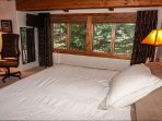 Master Bedroom with Beautiful Creek Views,  King Bed, Full Bathroom and Flat Screen TV
