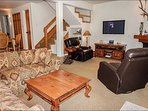Open Floor Plan with Flat Screen TV and Beautiful Creekside Views