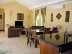 The extra-large great room is huge and perfect for family gatherings