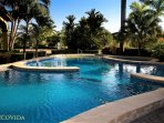The community pools are located 2 blocks from Casa Mariposa