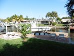 Boat dock with optional boat rental available.