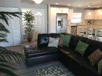 Open floor plan living room / kitchen area.