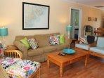 LIving Area | West | 2 bedrooms, full bath left