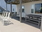 Deck with Rocking Chairs/Swing/Picnic Table