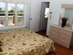 Bedroom 3 up, full bath, Queen, oceanviews