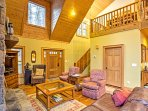 The soaring ceilings  let in an abundance of natural light from all angles.