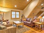Enjoy the cozy loft space, offering a flat screen TV.