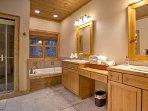 Soak in the en suite jetted tub.